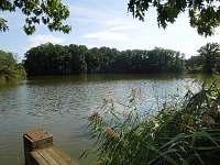 Objekt je na břehu rybníka