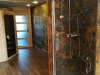 sprchový kout s funkcí deště - apartmán ubytování Jaronice