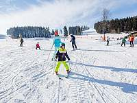 lipno skiareál, 8min pěšky -