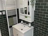 první koupelna v přízemí - chalupa k pronajmutí Lipno nad Vltavou - Slupečná