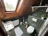 záchod s umyvadlem v prvním patře - chalupa k pronájmu Lipno nad Vltavou - Slupečná