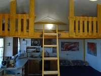 pohled do podkroví - chata k pronájmu Roštín