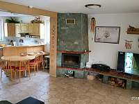 Prvni patro - kuchyn + obyvak