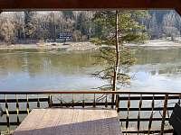Výhled z pergoly - chata ubytování Oslnovice