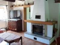 Obývací pokoj - pronájem chalupy Vanovice- Drvalovice