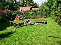 Vlastní pozemek náležící k chatě