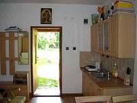 umístění kuchyňské linky - chata k pronájmu Lednice - Nejdek