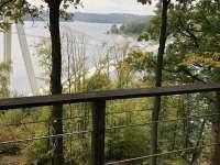 Výhled z terasy - chata ubytování Onšov