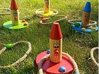 venkovní hry - chata k pronajmutí Vápenice 12