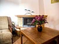 Pokoj s rozkládacím gaučem a kuchyňkou