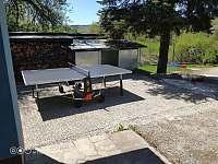Stůl na pinec :-) - chalupa k pronájmu Lopeník