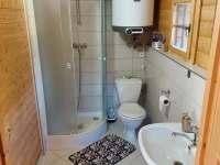 koupelna - chata ubytování Suchý