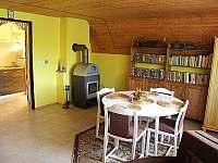 obývací pokoj s krbovými kamny - Těšetice u Znojma