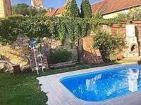 Bazén se slanou vodou - chalupa ubytování Mikulov