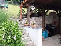 Vila Matylda - terasa a vstup na zahradu - ubytování Klentnice