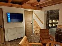 Obývací část - chalupa ubytování Drnholec