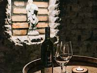 Vinný sklep - dekorace - chalupa k pronajmutí Drnholec