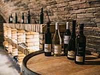 Vinný sklep - posezení a víno - chalupa k pronájmu Drnholec