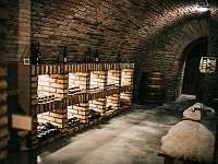 Vinný sklep - posezení a víno - pronájem chalupy Drnholec