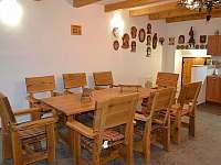 Společenská místnost - chalupa ubytování Jaroslavice