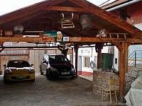 zastřešená terasa - rekreační dům k pronájmu Rakvice