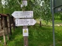 Trail okruhy Lučina - pronájem chaty Kněždub