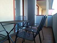 2.balkón-vstup z kuchyně - apartmán ubytování Mikulov na Moravě