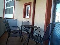 2.balkón-vstup z kuchyně - apartmán k pronajmutí Mikulov na Moravě