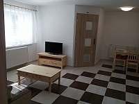 Obývací pokoj - chalupa ubytování Hluboké Mašůvky