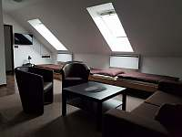 Ložnice v podkroví - chata k pronajmutí Mutěnice