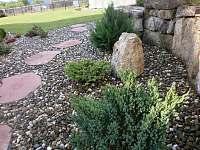 okrasná partie zahrady - pronájem chalupy