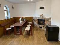 společenská místnost - chata ubytování Mutěnice