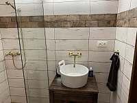 sprcha s umyvadlem - chata k pronájmu Mutěnice