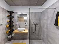 Apartmán II - koupelna - ubytování Hrabětice