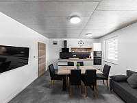 Apartmán II - obývací pokoj s kuchyní - ubytování Hrabětice