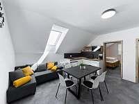 Apartmán III - obývací pokoj s kuchyní - k pronájmu Hrabětice