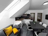 Apartmán III - obývací pokoj s kuchyní - k pronajmutí Hrabětice