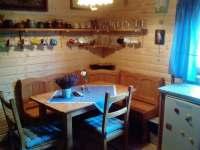 Jídelní kout v kuchyni - chata ubytování Vřesovice