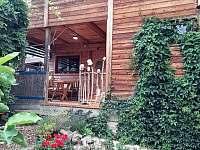 Vchod na terasu - chata ubytování Vřesovice