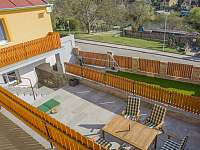 pohled z balkonu - rekreační dům ubytování Znojmo