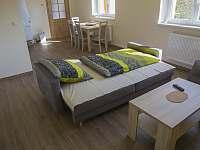 rozkládací pohovka v obývacím pokoji (5. lůžko) - rekreační dům k pronajmutí Znojmo