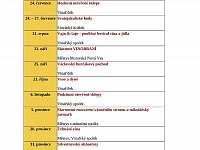 Seznam kulturních akci v místě ( může se měnit) - Moravská Nová Ves