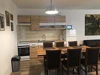 kuchyně s posezením - pronájem apartmánu Lanžhot
