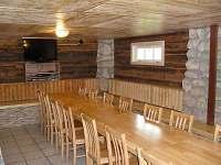 společná místnost, posezení při nepřízni počasí - chata k pronajmutí Starý Petřín
