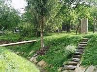 potůček za zahradou
