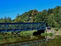 Most přes Dyji nad horním jezem - Podhradí nad Dyjí