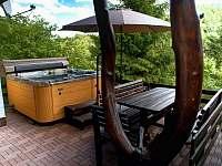 Vstup na terasu - chata k pronajmutí Podhradí nad Dyjí
