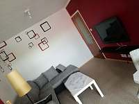 obývací pokoj - pronájem apartmánu Velké Němčice