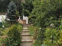 Cesta od vstupní brány k hl. vstupu do chalupy - ubytování Řicmanice