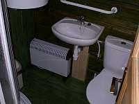 koupelna - sruby - apartmán k pronajmutí Olbramovice u Moravského Krumlova